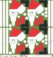 Scrapbooking-Papier Small Santa 190g/m² (Restbestand)