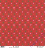 Scrapbooking-Papier Red Stars 190g/m² (Restbestand)