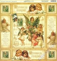 Scrapbooking Papier Christmas Past Collection - Ode to joy