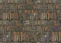 Motiv-Fotokarton 300g/qm 49,5x68cm Buchstaben