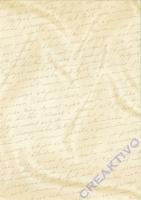 Bastelkarton Starlight Hochzeit - Handschrift creme/gold (Restbestand)