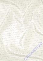 Bastelkarton Starlight Hochzeit - Handschrift weiß/silber