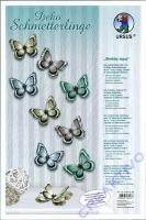 Deko Schmetterlinge Shabby Aqua