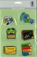 Papier Accessoires Schulanfang Junge 6x6 Motive (Restbestand)