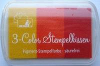 Heyda 3-Color Stempelkissen gelb - orange - rot