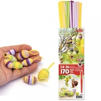 3D-Quilling Eier lila/grün/gelb (Restbestand)