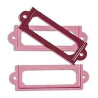 Metall-Rahmen 6x2cm rosé / rot