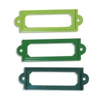 Metall-Rahmen 6x2cm Grün-Töne