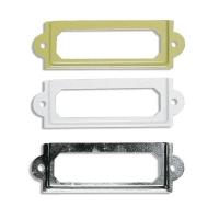 Metall-Rahmen 6x2cm elfenbein/weiß/gold