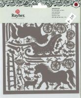 Karen Marie Laserstanzteil Pferd & Co grau