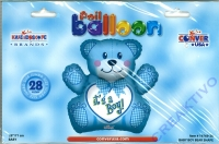 Folien-Ballon its a boy - Teddy 71cm