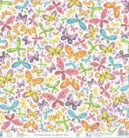 Premium Glitter Scrapbook paper Schmetterling 2 228