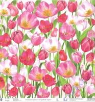 Premium Glitter Scrapbook paper Tulpen 240