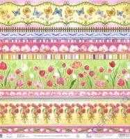 Premium Glitter Scrapbook paper Tulpen 244