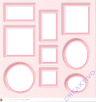 Scrapbooking Papier Frames rosa