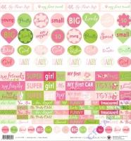 Scrapbooking-Papier Baby Girl Fun