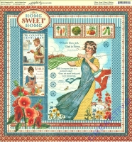 Scrapbooking Papier Home Sweet Home (Restbestand)
