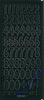 Stickerbogen Zahlen 23x10cm Höhe 21mm schwarz