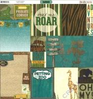 Scrapbooking Papier Safari - Habitat (Restbestand)