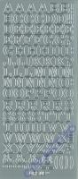 Sticker silber - Groß-Buchstaben groß