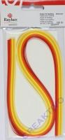 Papier für Quilling rot/gelb Töne 0,3cm