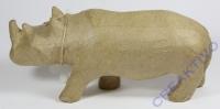 Pappmaché Nashorn 25cm x 7,2cm x 11cm