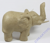 Pappmaché Elefant 21cm x 17cm x 12cm