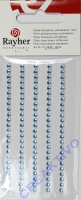 Rayher Plastik-Strassteine 3mm selbstkl. hellblau 120St