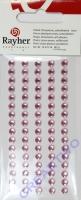 Rayher Plastik-Strassteine 5mm selbstkl. rosa 80St