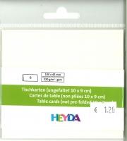 Heyda Tischkarten 6 Stück perlweiß (Restbestand)