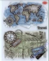 Silikon-Stempel Travel