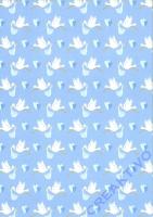 Motivkarton Storch babyblau (Restbestand)