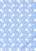 Motivkarton Storch babyrosa (Restbestand)