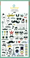 Stickerbogen Mustache