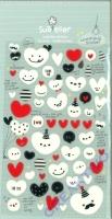 Stickerbogen Balloon Heart