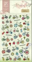 Stickerbogen Bike