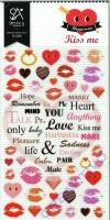 Stickerbogen Kiss me