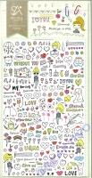 Stickerbogen Drawing Love