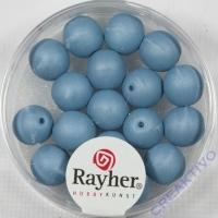 Silk Beads Glas Großlochperle 8mm petrol