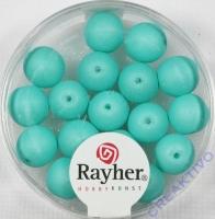 Silk Beads Glas Großlochperle 8mm mintgrün