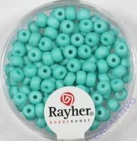 Silk Beads Glas Rocailles 4mm mintgrün
