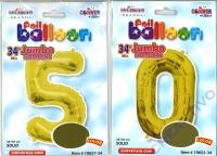 Folien-Ballons 50 34/87cm gold