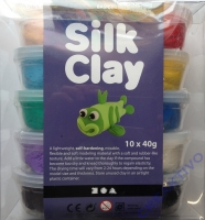 Silk Clay Modelliermasse 10x40g Basic 1