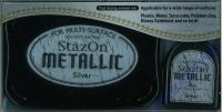 StazOn Stempelkissen Metallic silver