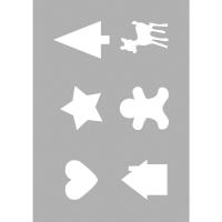 Schablone DIN A5  Basic Motive