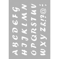 Schablone DIN A5  Alphabet Grossbuchstaben