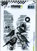 Art Stamp - Collage aves des oiseaux
