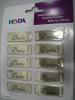 Heyda Deko-Schnallen Danke gold (Restbestand)