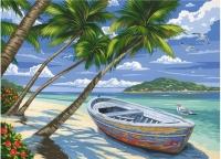 Malen nach Zahlen - Tropical Beach
