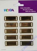 Heyda Deko-Schnallen Einladung gold (Restbestand)